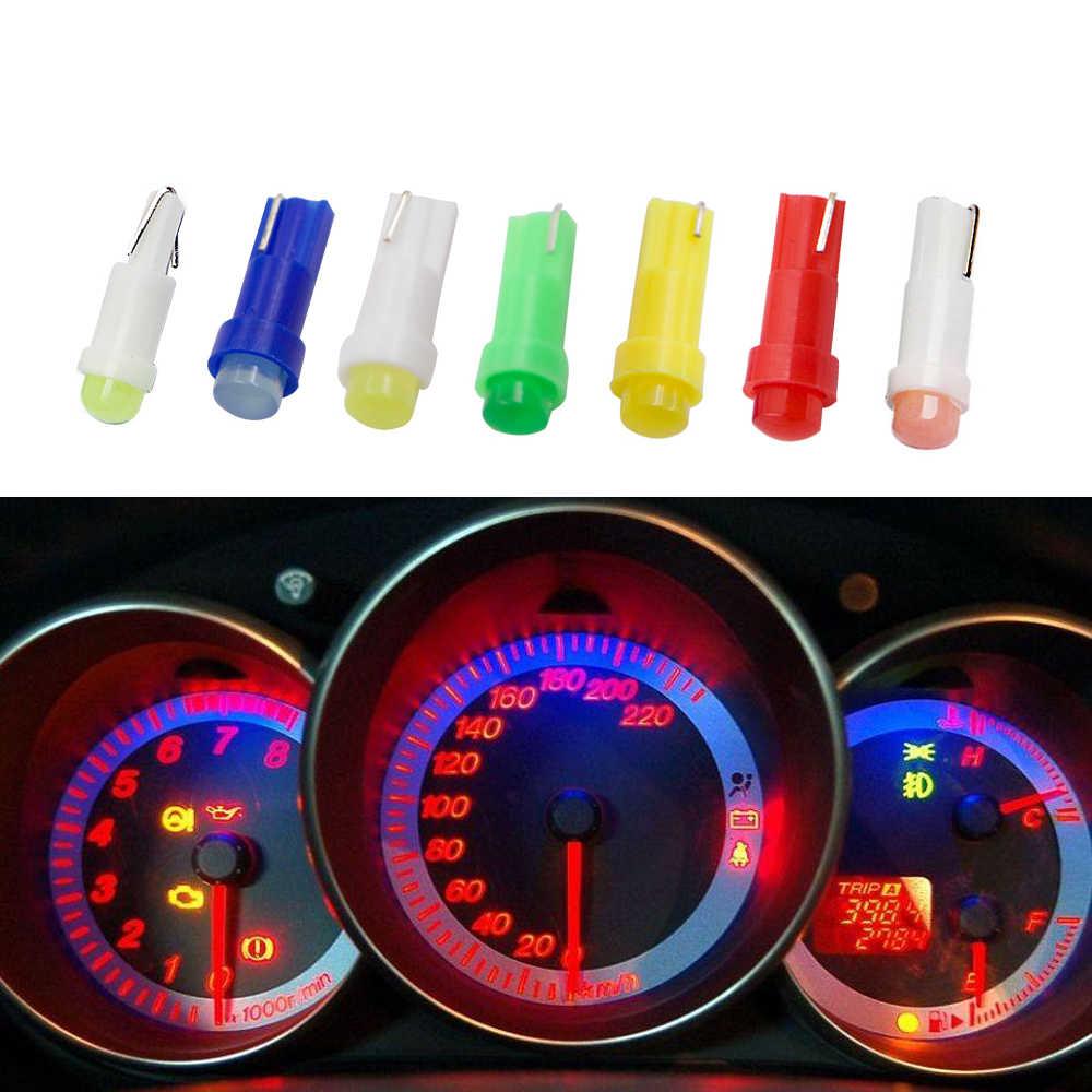 רכב פנים T5 Led רכב מנורת הנורה לוח מחוונים אור רכב דלת טריז מד קריאת מנורת הנורה 12V cob smd רכב סטיילינג עבור אאודי