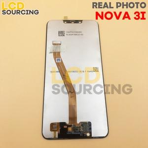 """Image 3 - 100% ORIGINAL6.3 """"LCD ekran için Huawei Nova 3/Nova 3i PAR LX1 INE LX2 LCD Ekran dokunmatik panel sayısallaştırıcı Meclisi + Çerçeve"""