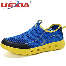 UEXIA Breathers Loafers Summer Fashion Hollow Sneakers Mens Shoes