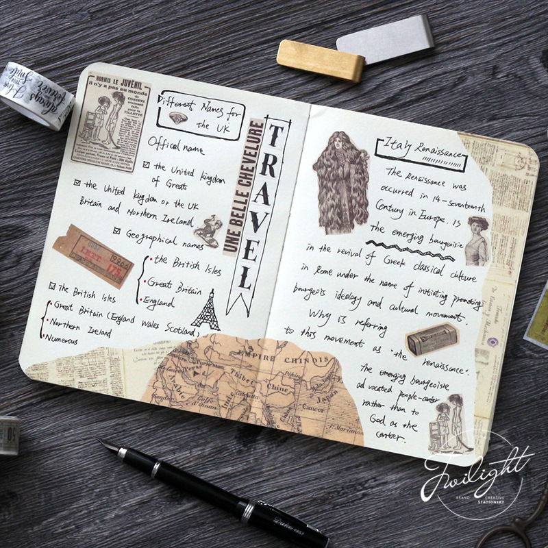 Mohamm Retro Newspaper Map Gothic Decorative Adhesive Tape Washi Tape DIY Scrapbooking Masking Tape School Office Supplies
