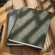 A4 b5 grande negócio diário de couro macio cópia escritório notebook agenda linha páginas engrossar bloco de notas pele carneiro 260 folhas