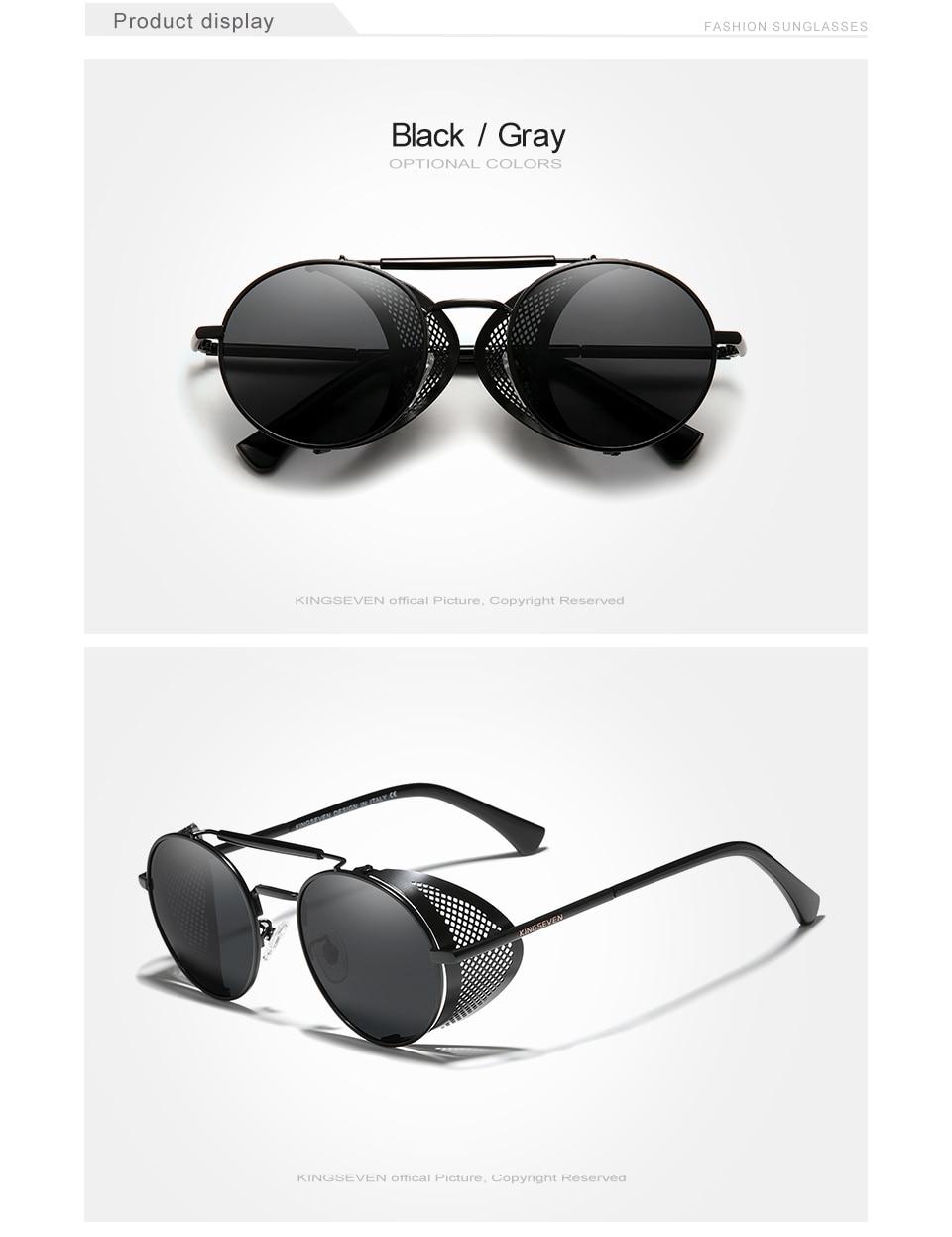 H5929582cb9994880a6bdbad5e087b41dW Genuine GIFTINGER Retro Round Steampunk Sunglasses Men Retro Women Sun Glasses Shades Vintage Travel Eyewear Gafas De Sol 7550