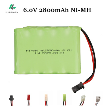6V 2800mAh NI-MH Battery for RC Toy Electric toy security facilities electric toy AA battery 6 v battery group SM/EL-2P/JST/PlUG