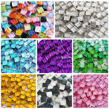 Square Tiles Glass Mosaic Glitter Mosaic-Making Hobbies Pazzle Craft Art-Material Colored