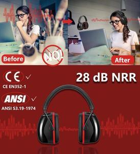 Image 5 - Шумоподавляющие наушники ZOHAN, наушники NRR 28 дБ, наушники для защиты слуха, регулируемые наушники протекторы, гарнитура