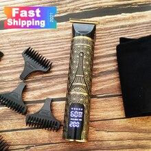 2021 USB Перезаряжаемые Парикмахерская Триммер для стрижки волос электробритва для Для мужчин косилка, машинка для стрижки волос, машинка для ...