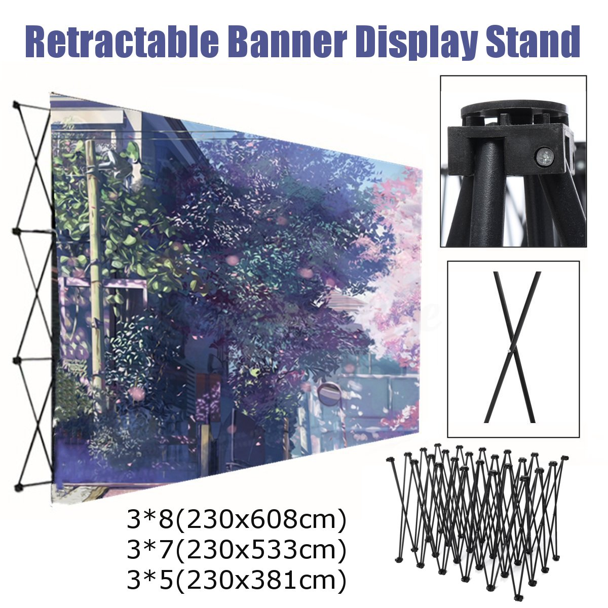 Folding Iron Stand Wall Frame Wedding Backdrop Decor Retractable Banner Spray Painting Display Show Booth Advertising Wall Kit