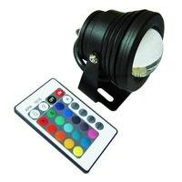 12V DC 10W RGB Wasserdichte IP67 High Power LED Runde Flutlicht schwarz-in Scheinwerfer aus Licht & Beleuchtung bei