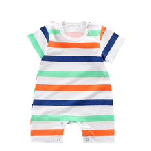 Toddler Rompers Girls Clothes Infant Jumpsuit Newborn-Baby Boys Summer Short-Sleeve Cotton