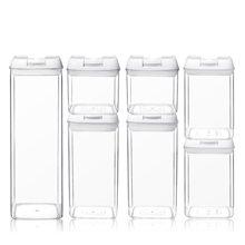 Saklama kutusu depolama tankları çok kapasiteli plastik gıda mutfak konteynerler şeffaf mühürlü kutular aperatifler kurutulmuş meyveler çok tahıl