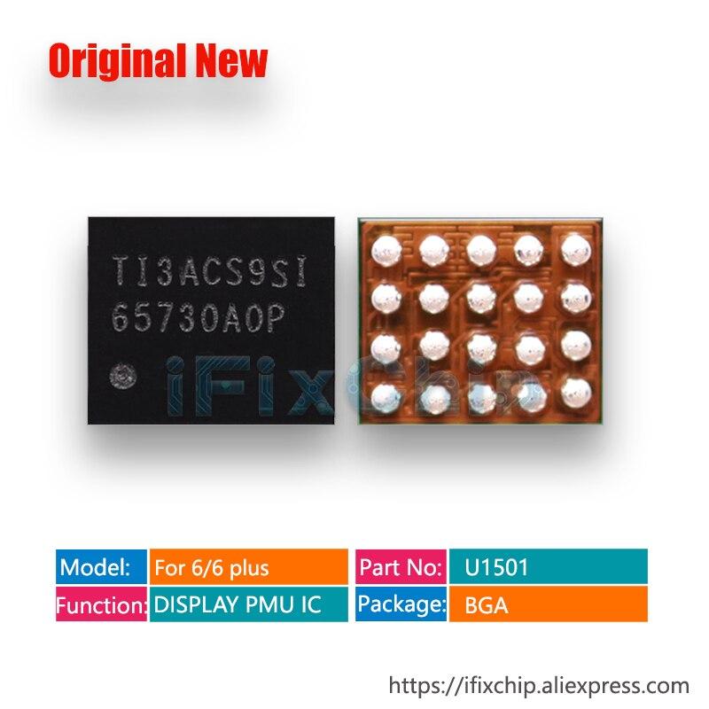 10-100 unids/lote para iphone 5S U3 5/5C/6/6 plus U1501/6 S/6 S plus U4000 7 U3703 6 plus LCD pantalla PMU IC TPS65730A0PYFF 65730 20pin