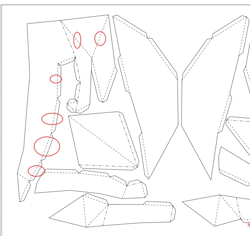 Gato de origami decorativo plano_3