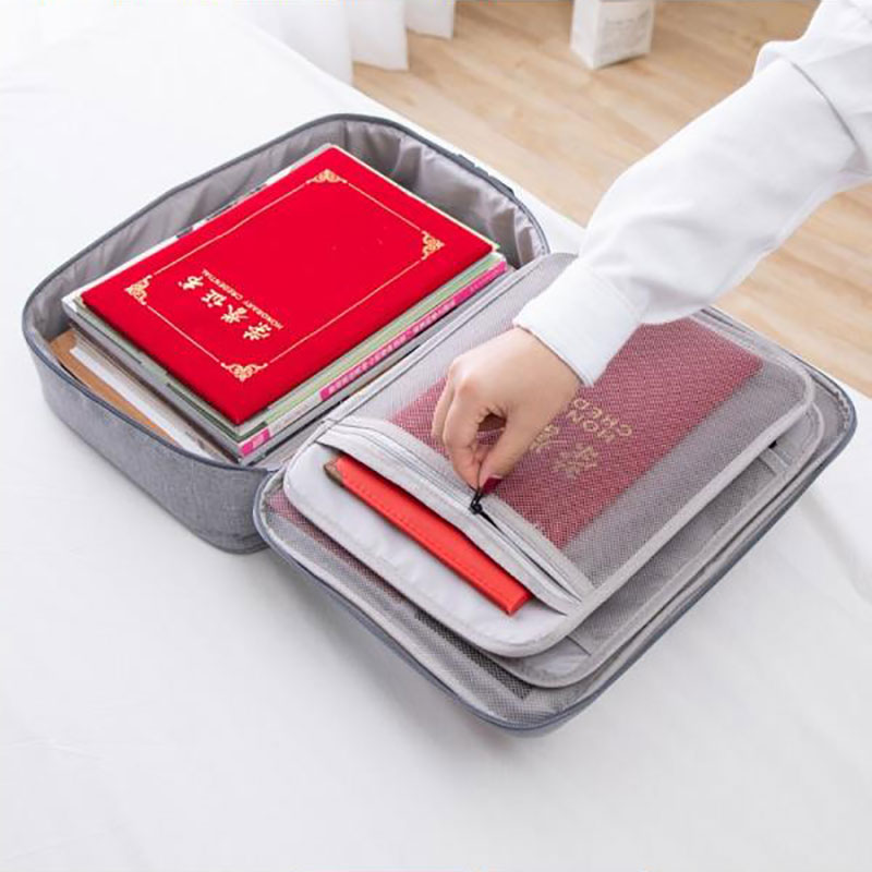 Multifunctional Cationic Document Storage Bag Travel ID Passport Finishing Package Waterproof Organizer Men's Cosmetic Bag