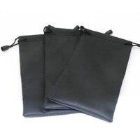 Neue Heiße Verkauf 5Pcs Schwarz Sonnenbrille Weichen Tuch Staub Reinigung Optische Gläser Tragen Tasche Tragbaren Brillen Zubehör