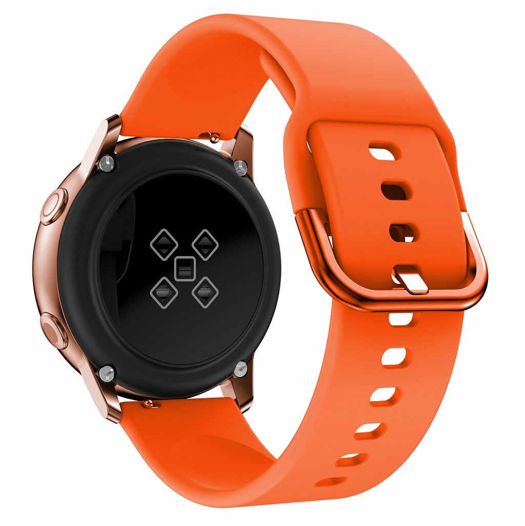 สายคล้องคอซิลิโคนสำหรับ Samsung Galaxy นาฬิกา Active กีฬานาฬิกานาฬิกาข้อมือสำหรับนาฬิกาชุด 140- 210 มม.