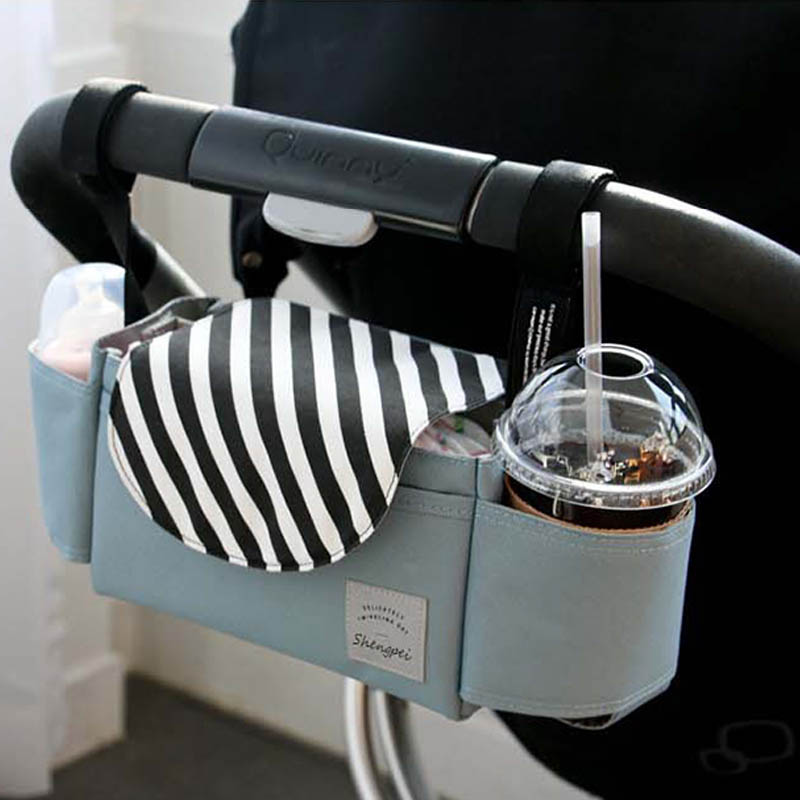 Baby Stroller Organizer Diaper Bag Bottle Cup Holder Diaper Bags Maternity Nappy Bag Accessories For Portable Baby Carriage