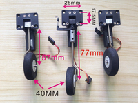 25g Servo Metal Digital Servoless Electronic Worm Retractable Nose wheel Tricycle Landing Gear Set For RC Aircraft SU27 KT Board