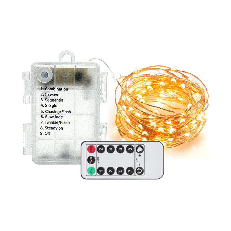 10m LED String Lights Smart Twinkly Garland Remote Control Fairy Light Powered By Battery Home Decoration Birthday Wedding Party