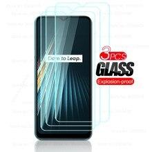 3 pçs vidro protetor para oppo realme realmi real me 7 6 5 pro 5i 6i 7i 5S 6s c3 c11 c12 c15 protetores de tela filme guarda capa
