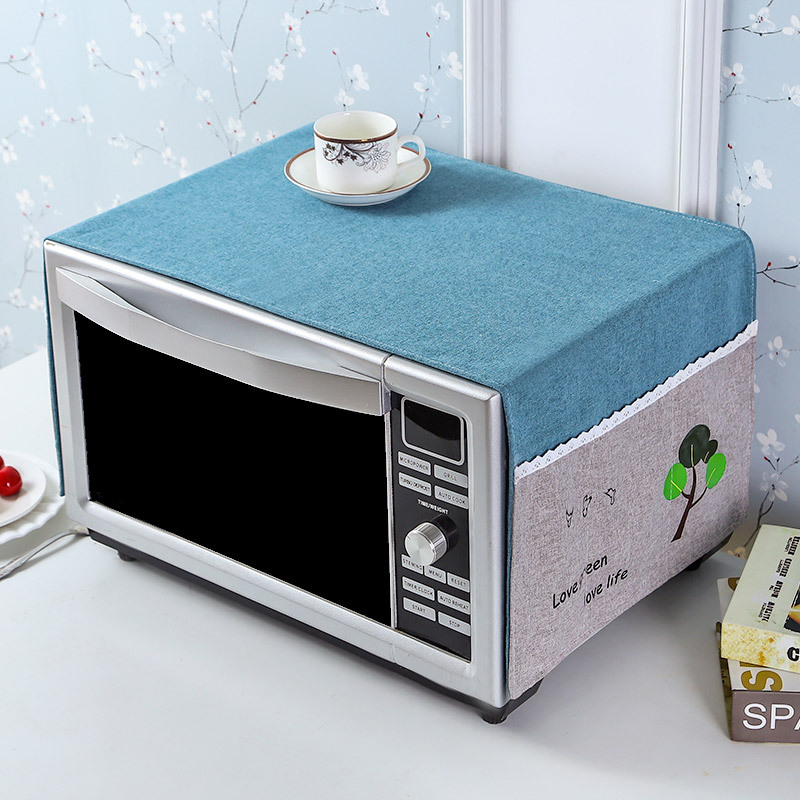 Cotton Linen Cloth Microwave Oven Refrigerator Towel Washing Machine Dust Cover Refrigerator Cover Cloth