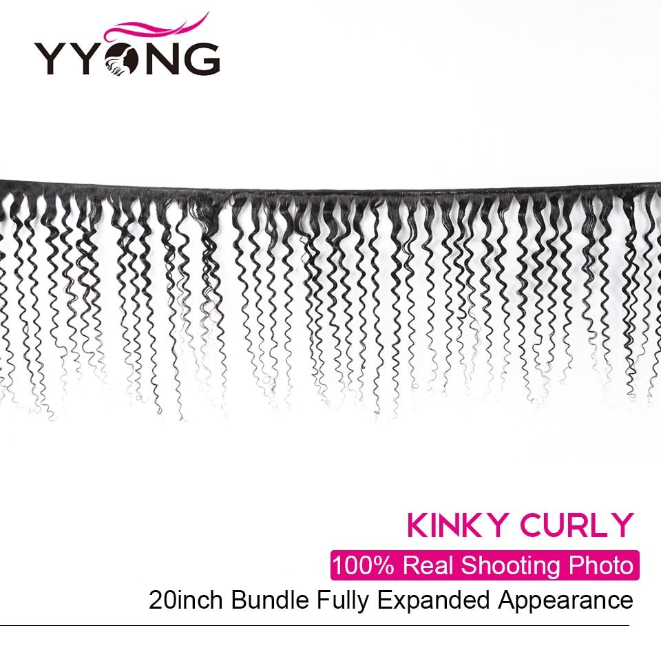 Yyong  Kinky Curly 100%   Bundles  Hair  3 Pcs/Lot Natural Color 8-26 Hair  Deals 2