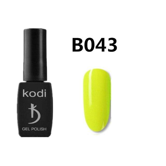 Kodi Gel Professional Nail Polish Glitter LED UV Gel Varnish Nail Art Varnish Soak Off Gel Lacquer green 12ml Nail Gel