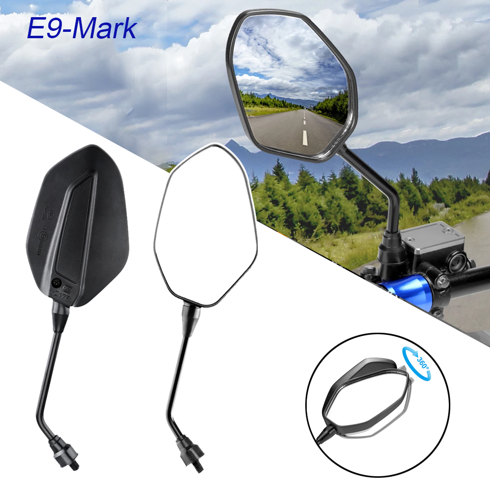 Motorcycle Mirror For <font><b>BMW</b></font> R1200GS F800GS Rearview Mirrors Back Side Convex Mirror 10mm with <font><b>E</b></font>-MARK Motorcycle accessories image