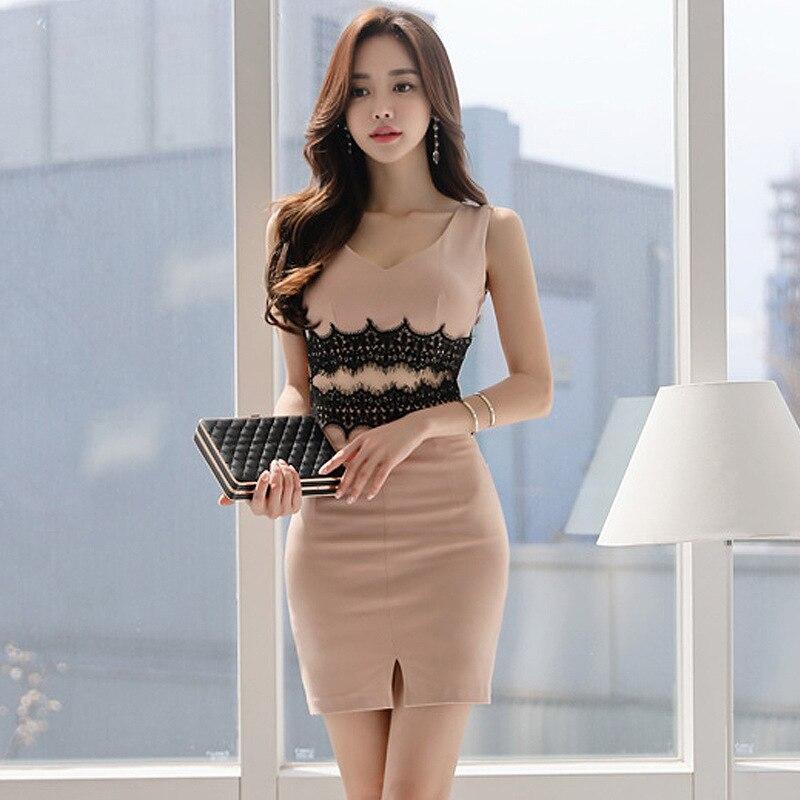 Debutante Fashion New Style WOMEN'S Dress Joint Lace Sheath Vest Base Dress