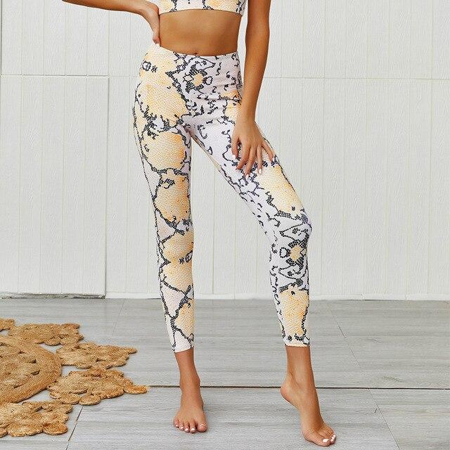 Фото женские комплекты для йоги леопардовая спортивная одежда бега