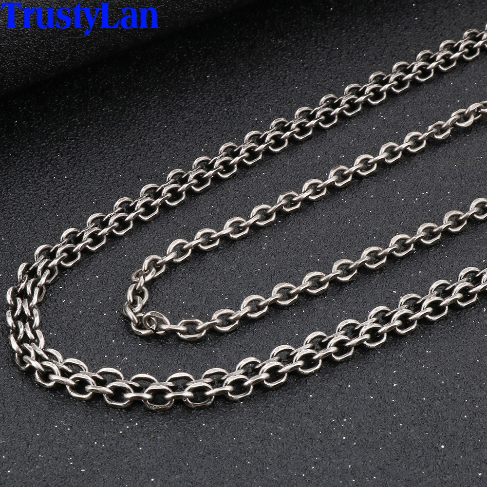 Long Chain Necklace Men Double Layer 316l Stainless Steel Mens Necklaces Vintage Jewelry Accessories For Best Friends His Gifts Chain Necklaces Aliexpress