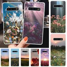 Ivits Sun Flower Beauty DIY Printing Phone Case cover Shell For Samsung S6 S7 S7edge S8 S8plus S9 S9plus S10 S10 plus E cheap gear vr 5 0 3d vr glasses helmet built in gyro sens for samsung galaxy s9 s9plus s8 s8 note5 note 7 s6 s7 s7edge