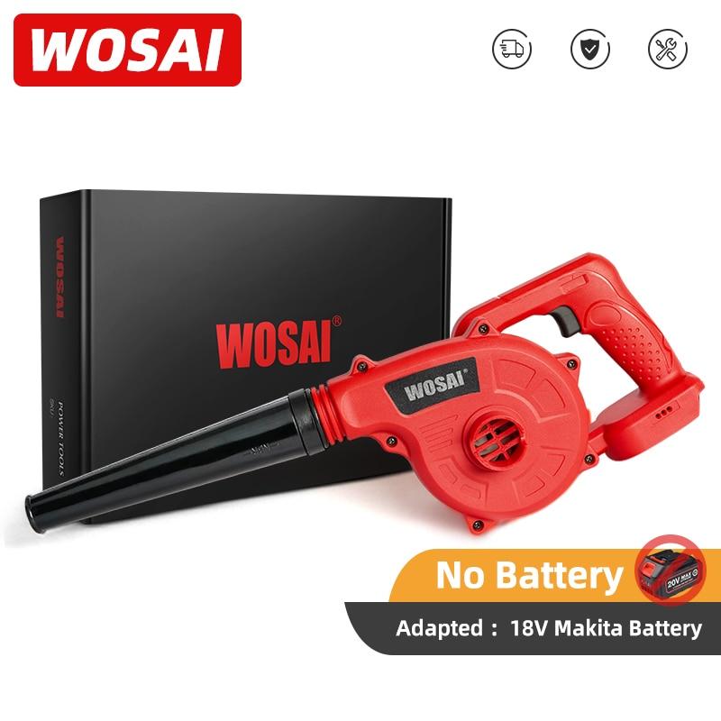 WOSAI-soplador de aire eléctrico de 20V serie MT, limpiador de polvo de ordenador de hoja manual, herramienta eléctrica para batería de ion de litio Makita de 18V