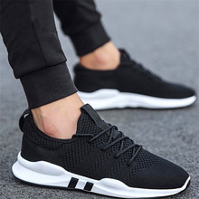 Spring and autumn new mens casual shoes Fashion trend running really flying woven breathable versatile mesh