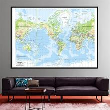 The World Mercator Projection 2001 Edition HD Canvas Map 60x90cm Home Office Wall Decor Spray Painting