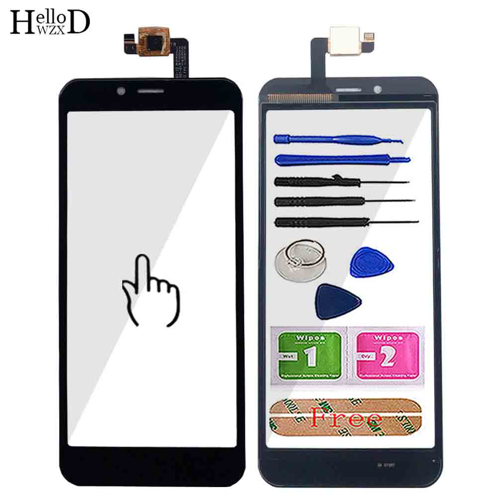 5'' Touch Screen For Vertex Impress Click Touch Screen Glass Lens Digitizer Front Outer Glass Sensor Repair Tools 3M Glue Wipes
