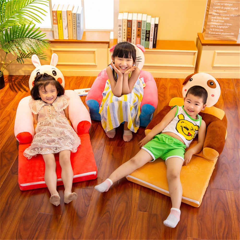 เด็กทารกเท่านั้นไม่มีบรรจุการ์ตูนมงกุฎที่นั่งเก้าอี้เด็ก Neat แป้งพัฟเด็กวัยหัดเดินเด็กโซฟาพับ