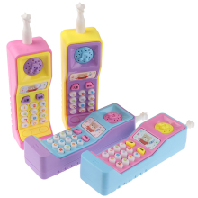 1PCs Kids Telephone Machine Cell Phone Toy Learning Point Reading Plastic Electric Study Electronic Vocal Toys