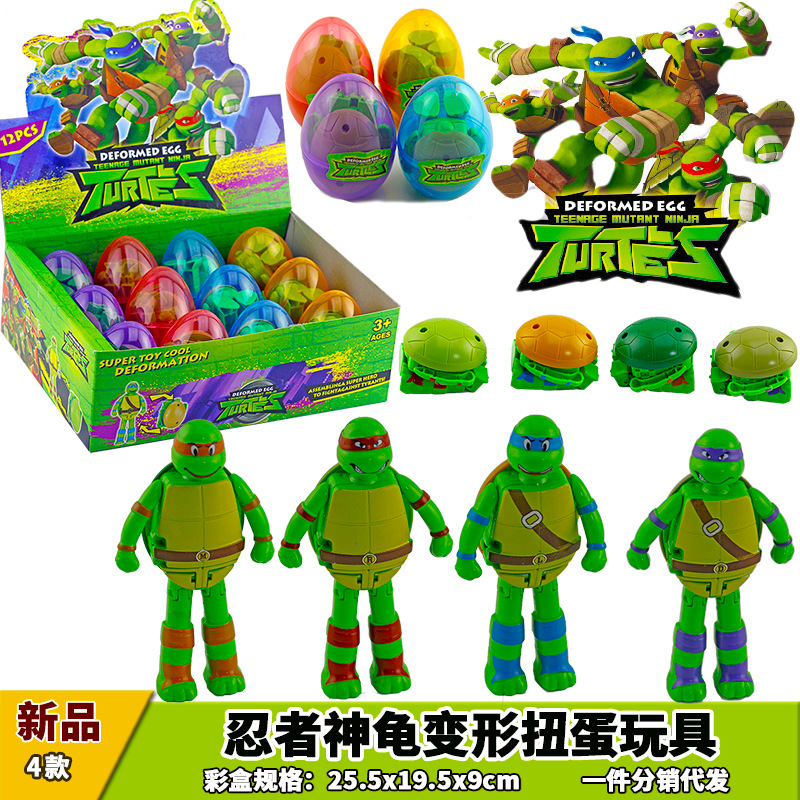 New Products Anime Ninja Flexible Turtle Transformation Capsule Toy Children Early Education Toy Gift