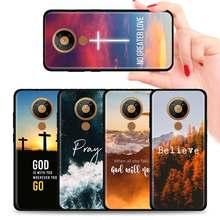 Bóg jezus modli się silikonowy futerał na telefon dla Nokia 2.2 2.3 3.2 4.2 7.2 1.3 5.3 8.3 5G 2.4 3.4 C3 C2 tenen 1.4 5.4 tylna pokrywa Coque