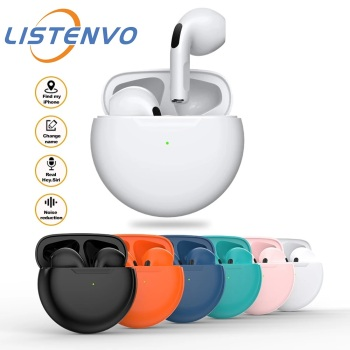 Air Pro 6 TWS Wireless Headphones With Mic Tws Bluetooth Earphone Noise cancle Earbuds Earpiece For Apple iPhone Xiaomi phone 1