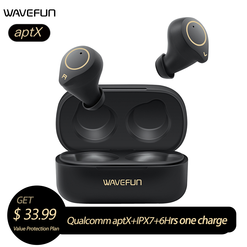 Wavefun X Pods 3 Bluetooth Earphone aptX Headphones HIFI IPX7 Waterproof Wireless Headphones Sport Earbuds BT5