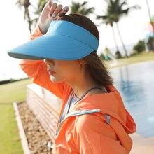 Ohsunny verão ampla borda sol viseira bonés esportes ao ar livre ciclismo praia dobrável protetor solar chapéus para mulher panamá chapeu feminino