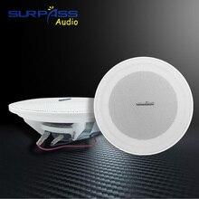 Çerçevesiz Stereo tavan hoparlör Mini boyutu arka plan müzik işitme sütun gömme monte akıllı ev gömme hoparlörler