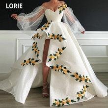 Лори 3d кружево золотые цветы вечерние платья с открытыми плечами