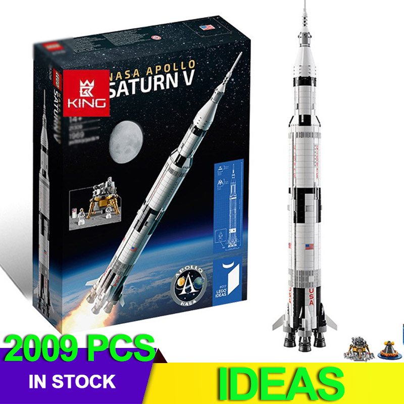 IDEAS Compatible 21309 Apollo Saturns V Space Launch Model Rocket program Kids Christmas Gifts Science Building Kit 1