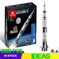 IDEAS Compatible 21309 Apollo Saturns V Space Launch Model Rocket program Kids Christmas Gifts Science Building Kit