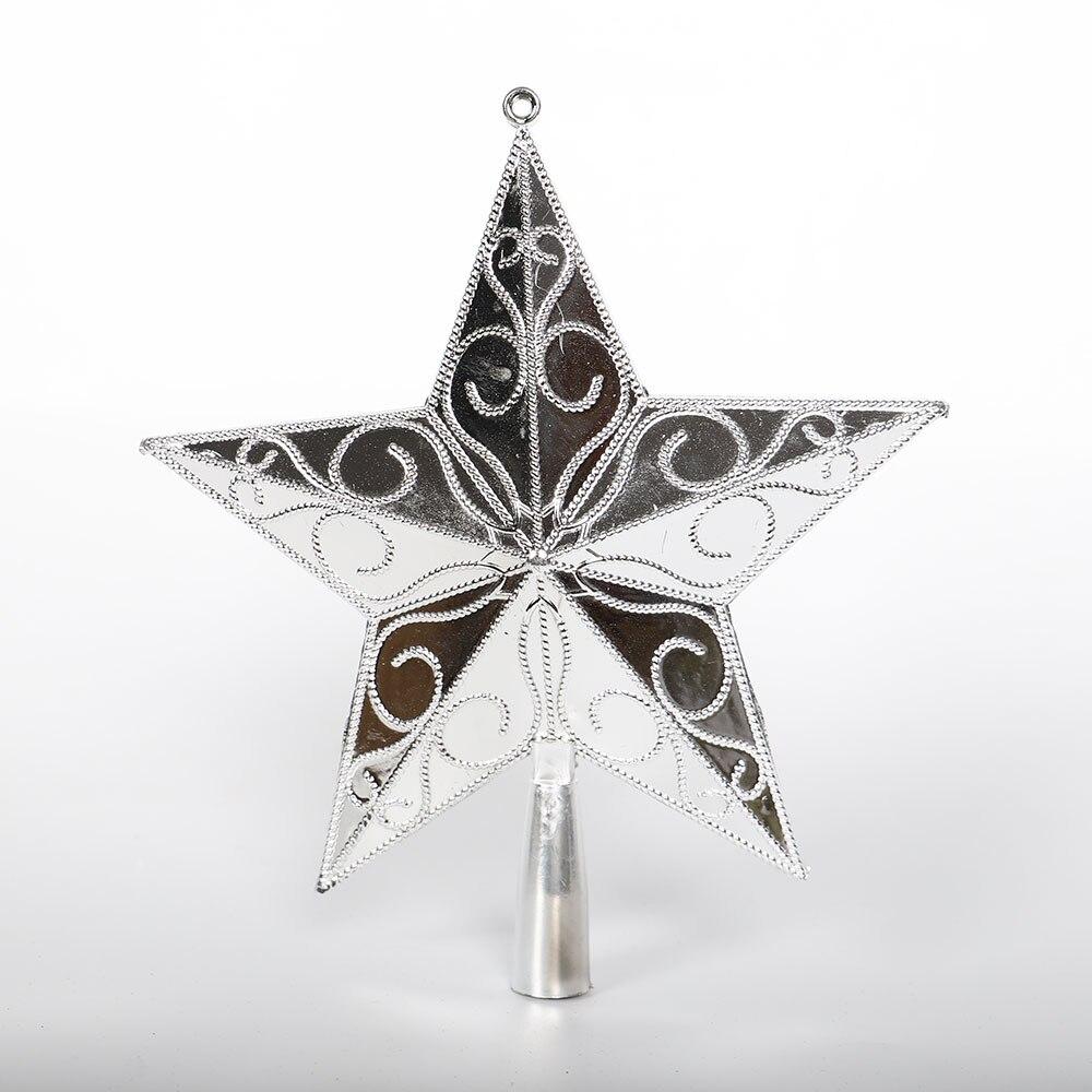 PVC Star Golden/Silver Ornament Xmas Prop Gadget Tree Top Decor Glittery 3D Holiday Party Home & Garden Christmas Festival
