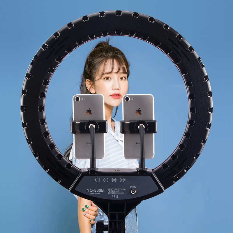 """14 LED Ring Light Photographic Selfie Ring Lighting with Stand for Smartphone Youtube Makeup Video Studio 14"""" LED Ring Light Photographic Selfie Ring Lighting with Stand for Smartphone Youtube Makeup Video Studio Tripod Ring Light"""