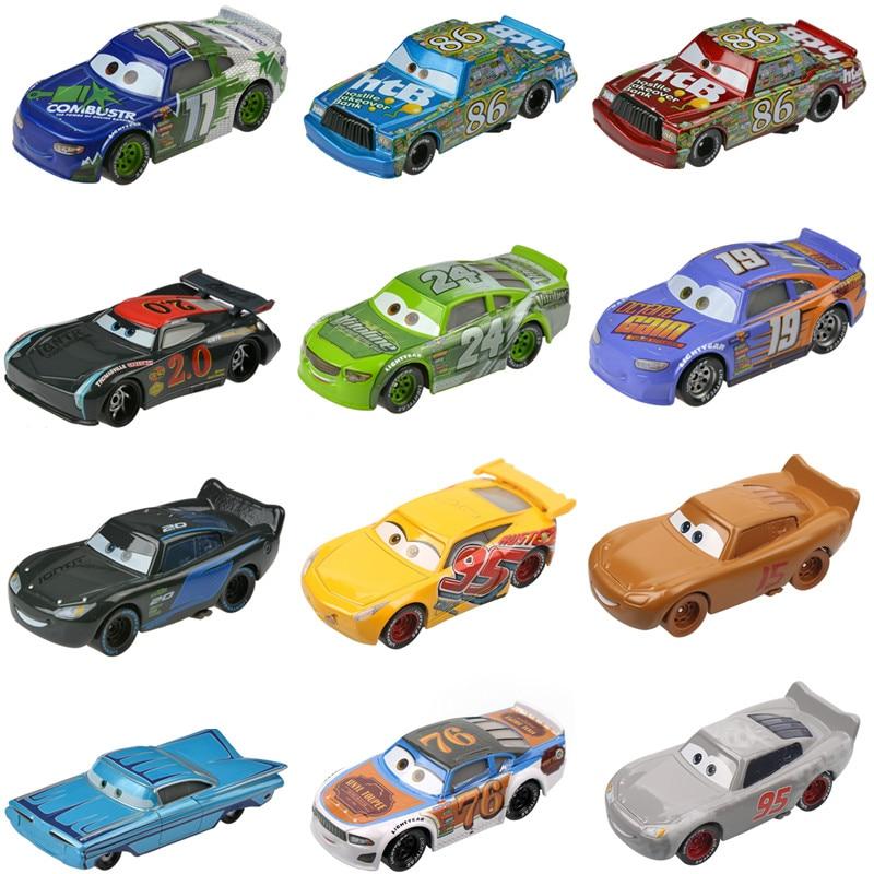 Marka yeni Disney Pixar arabalar 3 civciv Hicks Jackson fırtına Ramirez 1:55 Diecast araç Metal alaşım oyuncaklar çocuklar için noel hediyesi