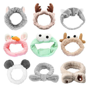 Bow Headbands Hair-Accessories Makeup Face-Washing Animals Girls Cute Elasticity Coral